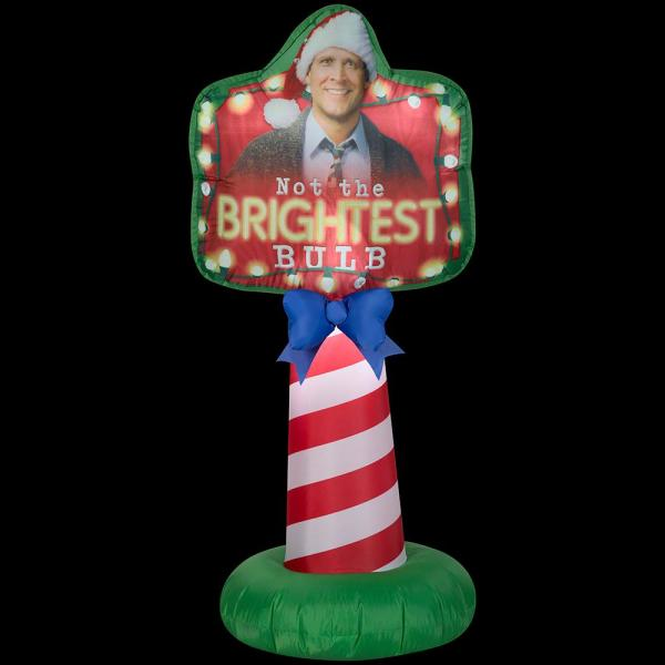 5 ft. Tall Airblown-Outdoor Sign-NLCV Not the Brightest Bulb Sign-MD-WB Inflatable