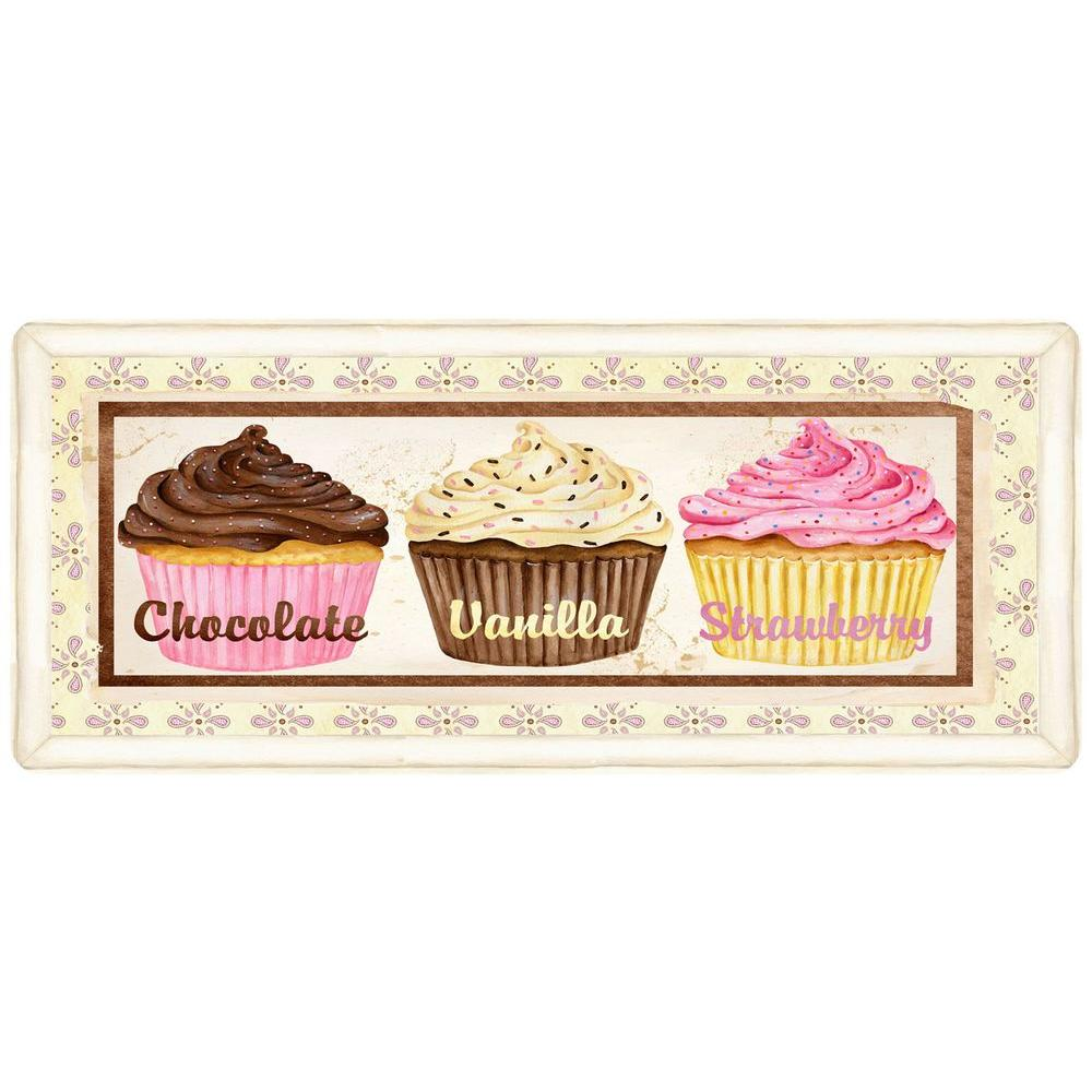 Bungalow Flooring Cup Cakes 22 in. x 52 in. Polyester Surface Mat