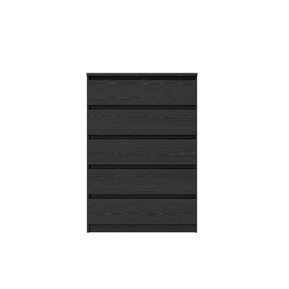 Tvilum Scottsdale 5-Drawer Black Wood Grain Chest 702976161