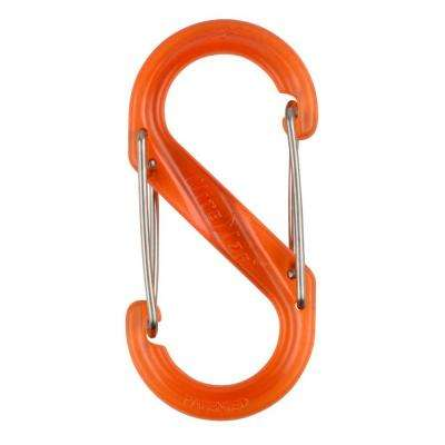 #2 Orange Plastic S-Biner