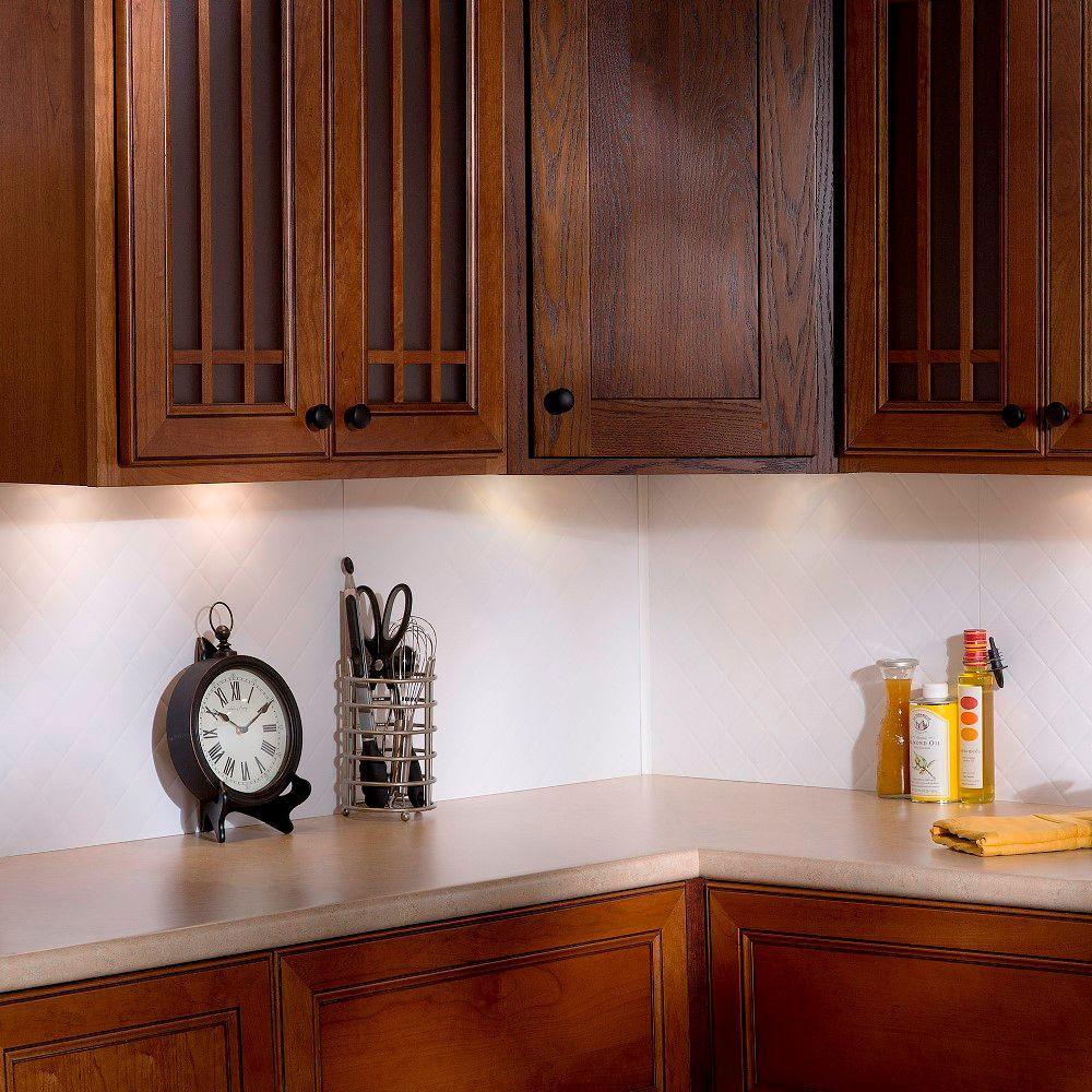 Kitchen Backsplash Corner: Fasade 18 In. Inside Corner Trim In Matte White-926-01