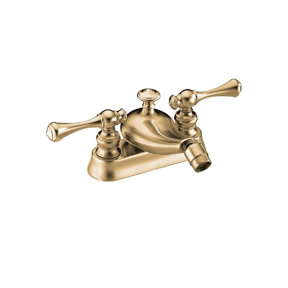 Kohler Revival 2 Handle Bidet Faucet In Vibrant Brushed Bronze K 16131 4a Bv The Home Depot