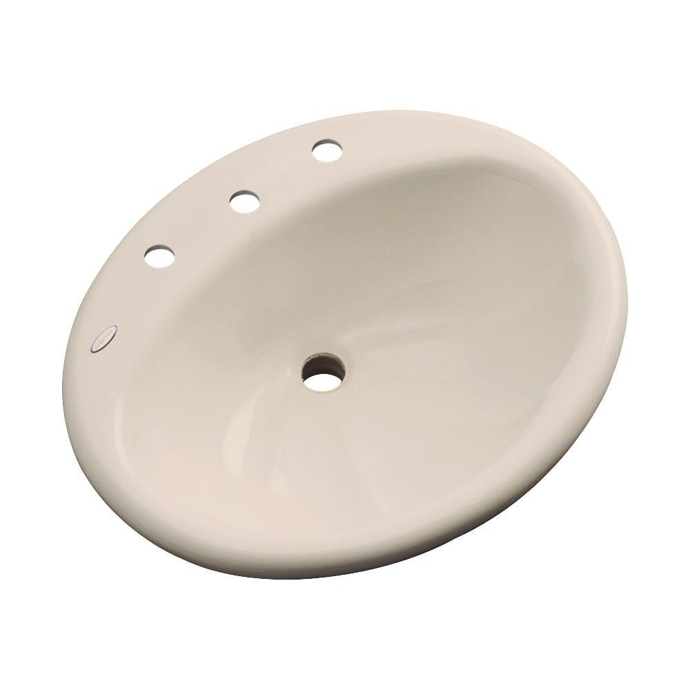 Oceana Designer Drop-In Bathroom Sink in Candle-Lyte
