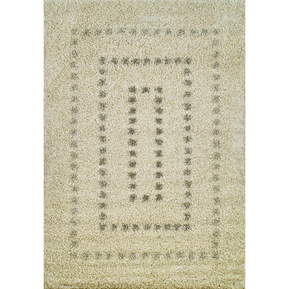 Concord Global Trading Shaggy Squares Natural 5 ft. x 7 ft. Area Rug