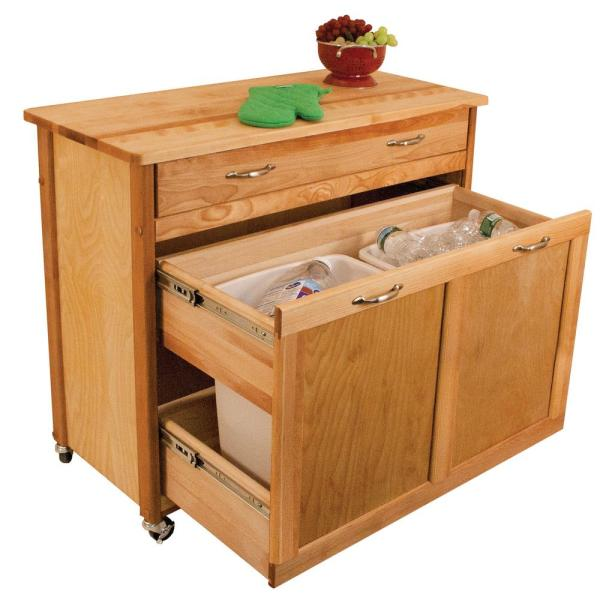 Recycling Trash Kitchen Island