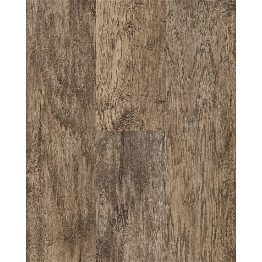 Trafficmaster Saratoga Hickory Amber 7 Mm Thick X 7 2/3 In. Wide X 50 5/8 In. Length Laminate Flooring (24.17 Sq. Ft. / Case), Medium