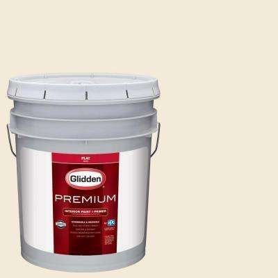 5 gal. #HDGWN42 Shell White Flat Interior Paint with Primer