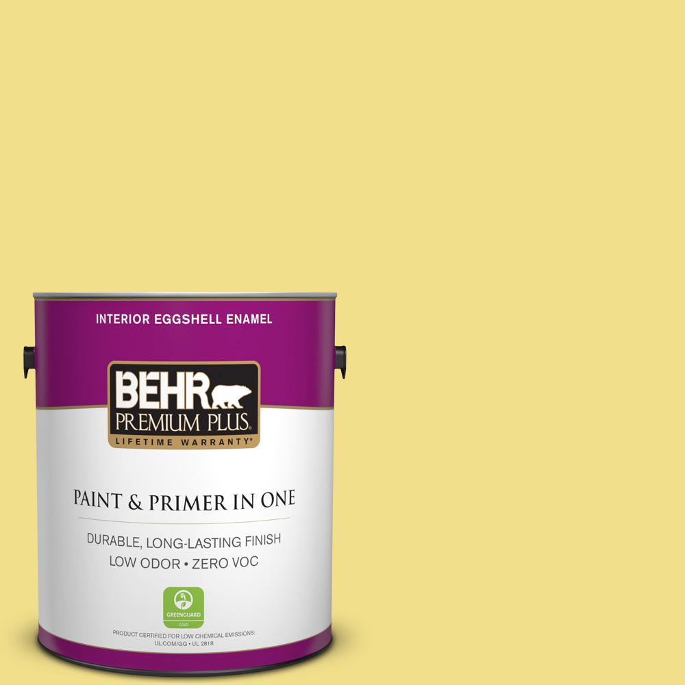 1 gal. #HDC-SP16-03 Lemon Curd Zero VOC Eggshell Enamel Interior Paint