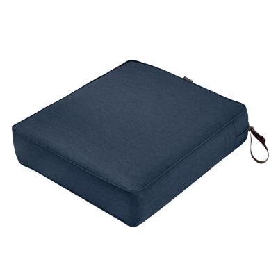 Montlake Heather Indigo Blue 21 in. W x 19 in. D x 5 in. T Outdoor Lounge Chair Cushion