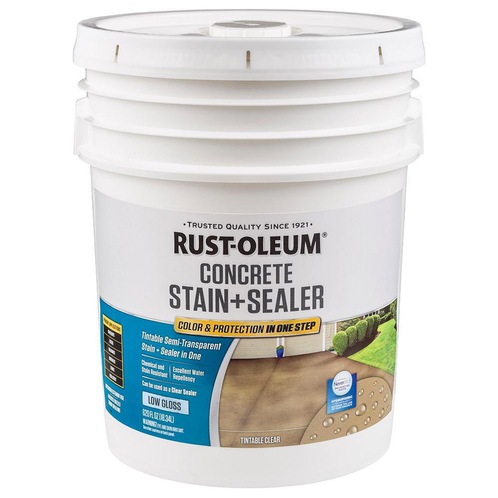 Rust Oleum 5 Gal Clear Low Gloss Concrete Water Repellent Sealer