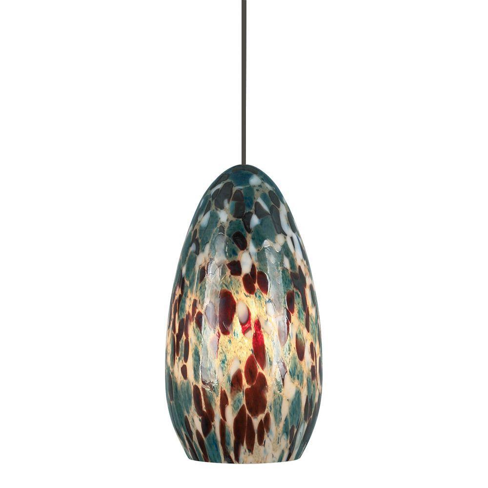 Banja 1-Light Bronze Aqua LED Hanging Mini Pendant