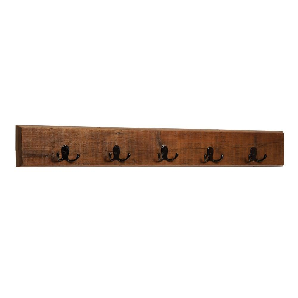 5 in. Revive - Reclaimed Coat 8-Hooks in. Natural