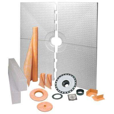 Kerdi-Shower 72 in. x 72 in. Shower Kit in ABS with Stainless Steel Drain Grate