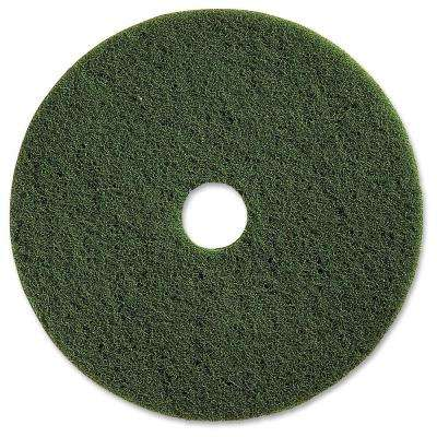 20 in. Green Scrubbing Floor Pad (5 per Carton)