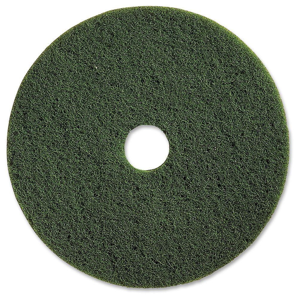 20 in. Green Scrubbing Floor Pad (5 per Carton)