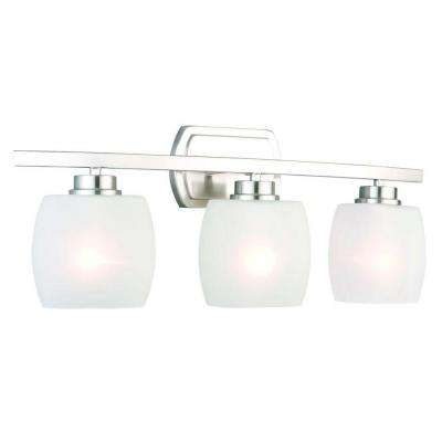 Tamworth 3-Light Brushed Nickel Vanity Light