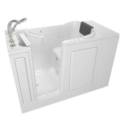 Gelcoat Premium Series 48 in. x 28 in. Left Hand Walk-In Whirlpool and Air Bathtub in White