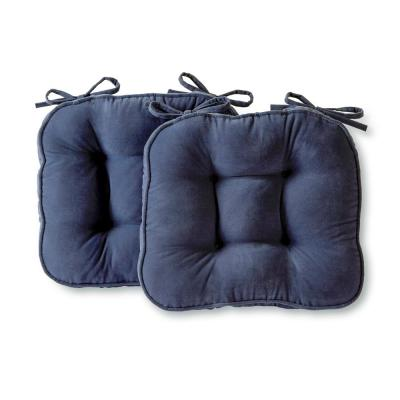 Hyatt Denim Microfiber Chair Pad (Set of 2)