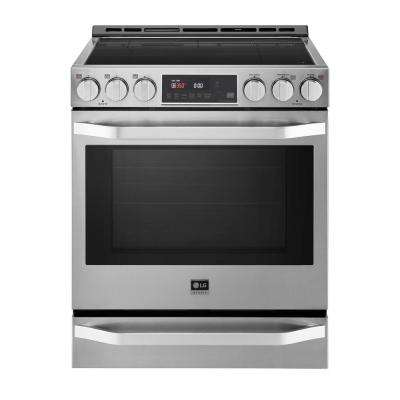 6.3 cu. ft. Induction Slide-in Range with EasyClean in Printproof Stainless Steel