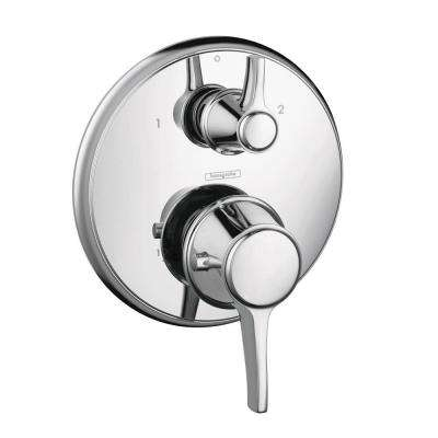 Metris C 2-Handle Thermostatic Valve Trim Kit with Volume Control and Diverter in Chrome (Valve Not Included)