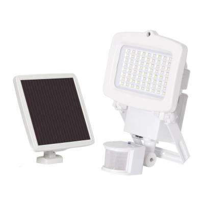 Solar 1500 Lumens White Motion Activated Outdoor Integrated LED Flood Light