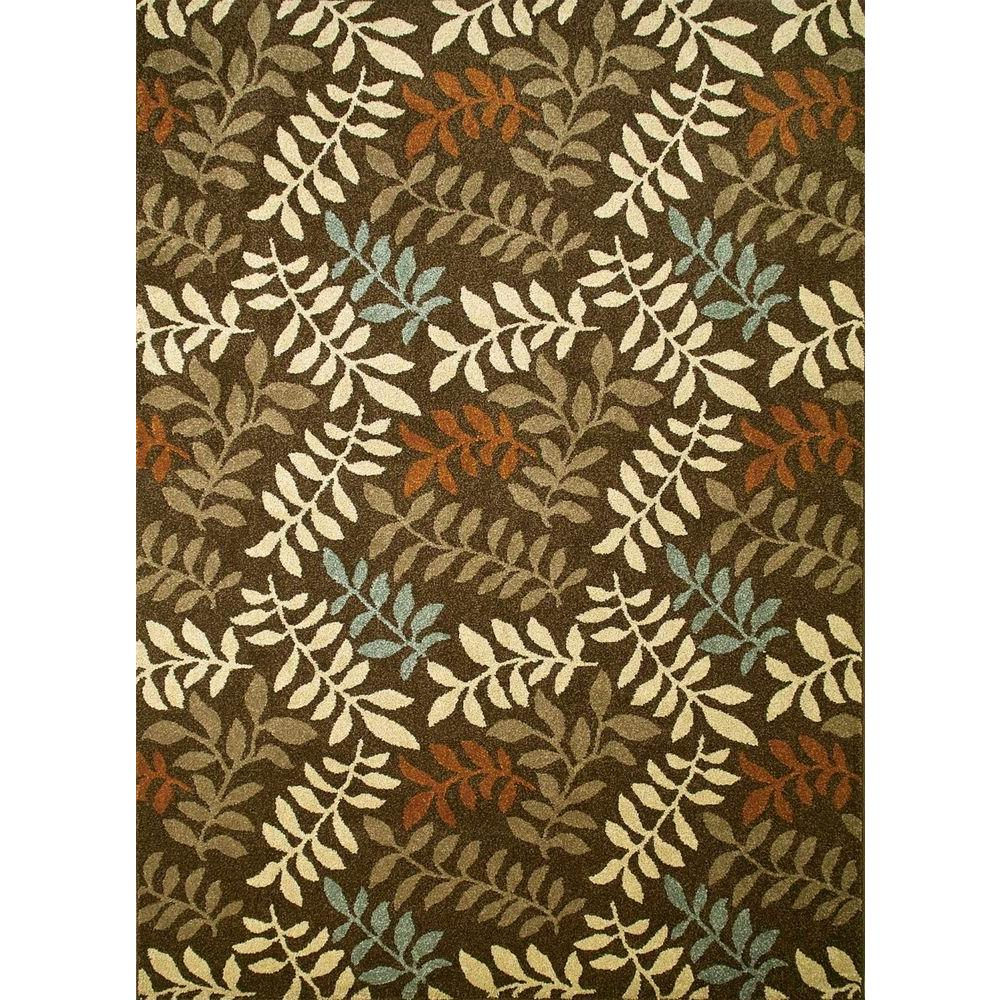 Chester Leafs Brown 6 ft. 7 in. x 9 ft. 3