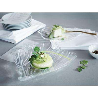 Jin Yu 9.25 in. Crystal Decorative Plate Set in Clear
