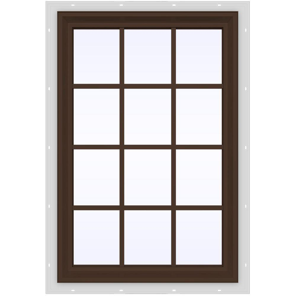 35.5 in. x 47.5 in. V-2500 Series Fixed Picture Vinyl Window