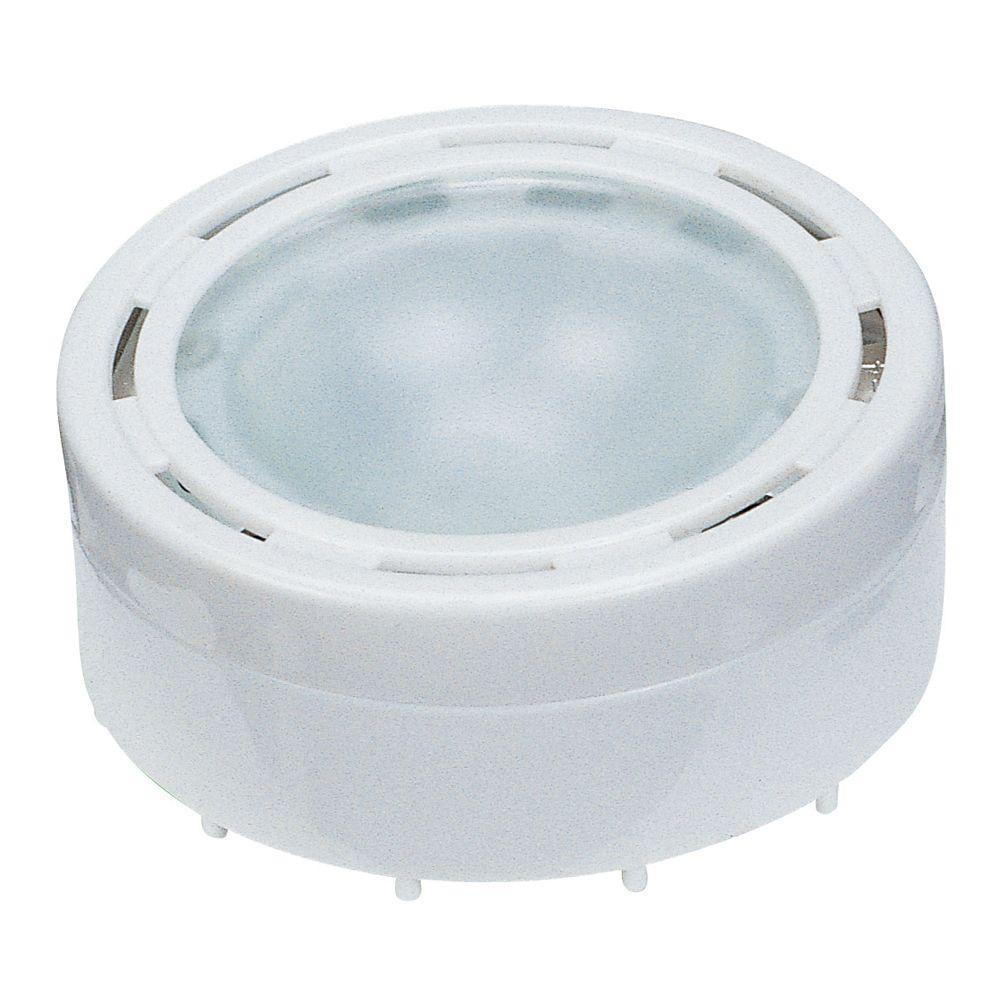 Halogen 2.62 in. Low Voltage Recessed Puck Light, White