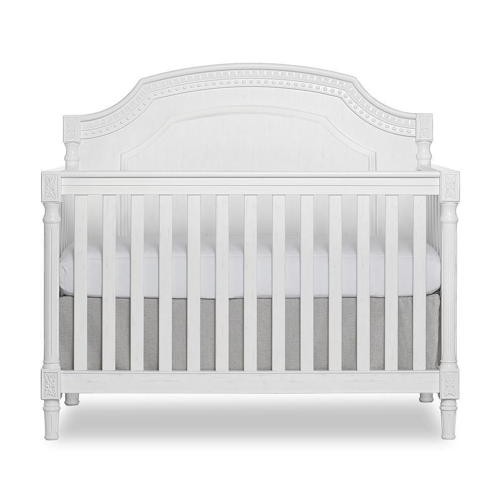 Julienne Brush White 5-in-1 Convertible Crib