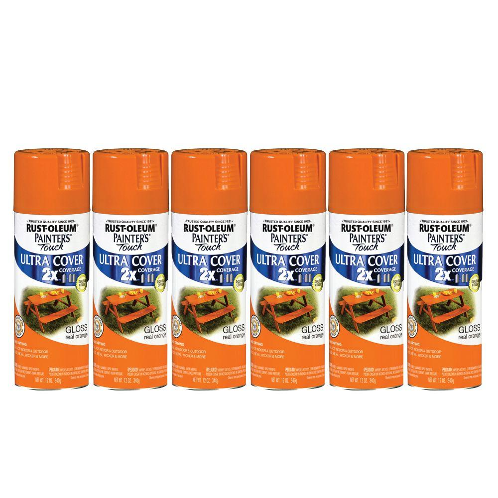 Painter's Touch 12 oz. Gloss Real Orange Spray Paint (6-Pack)-DISCONTINUED