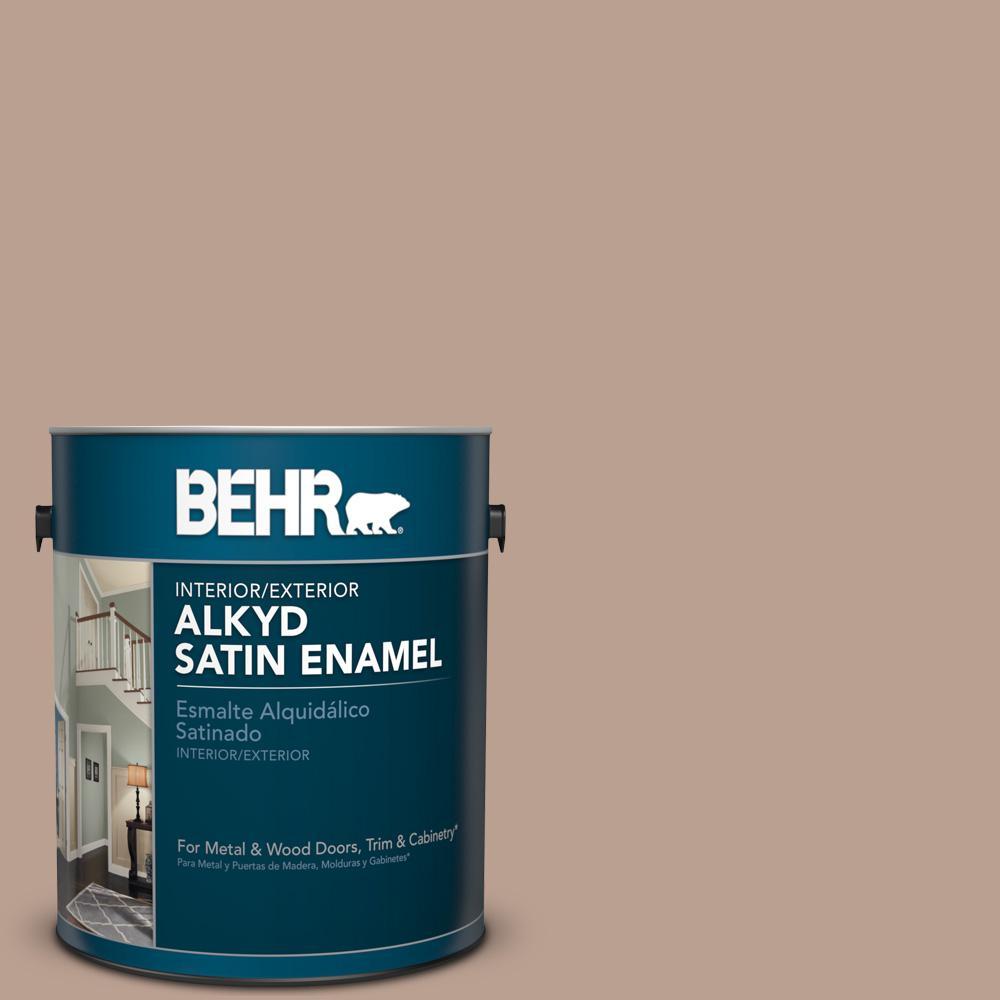 1 gal. #AE-3 Earthy Tan Satin Enamel Alkyd Interior/Exterior Paint