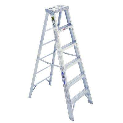 6 ft. Aluminum Step Ladder with 375 lb. Load Capacity Type IAA Duty Rating
