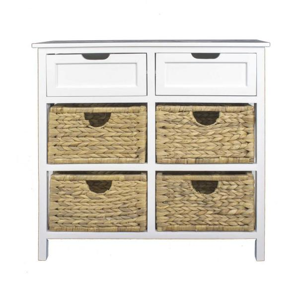Shelly White Wood Cabinet with a Drawer