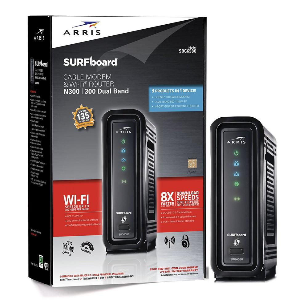 SURFboard DOCSIS 3.0 Cable Modem and Wi-Fi Router SBG6580-2 with Wireless