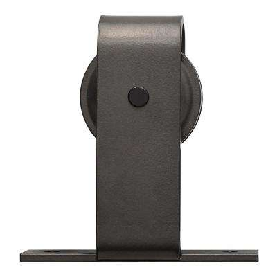 84 in. Oil Rubbed Bronze Buck Steel Sliding Barn Door Hardware Kit