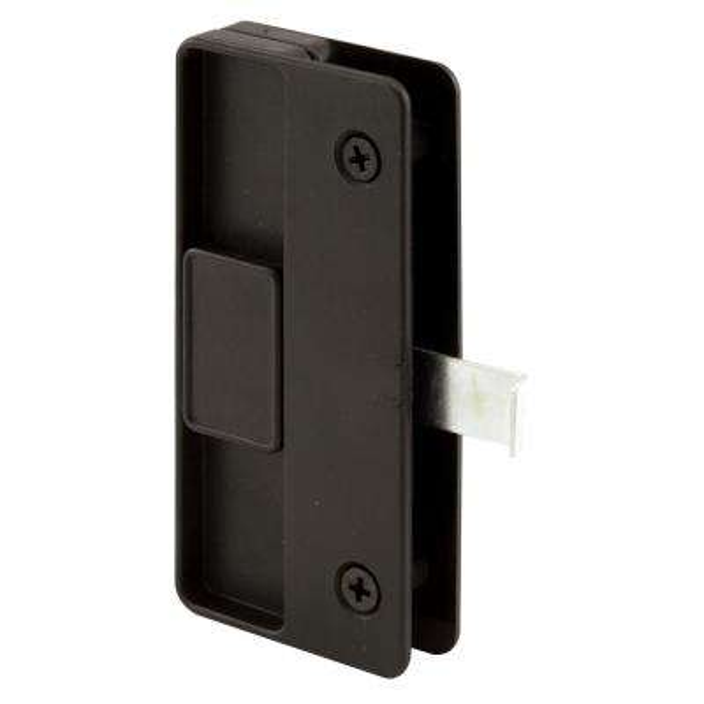 Sliding Screen Door Latch and Pull, Black Plastic, Columbiamatic
