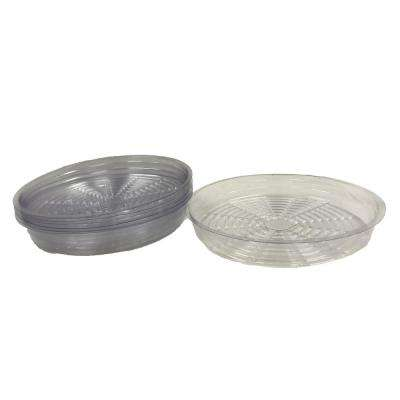 14 in. Clear Plastic Saucer (10-Pack)