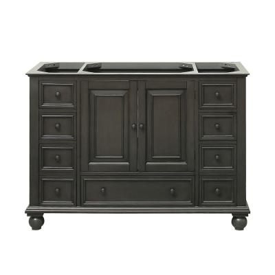 Thompson 48 in. W x 21 in. D x 34 in. H Vanity Cabinet in Charcoal Glaze