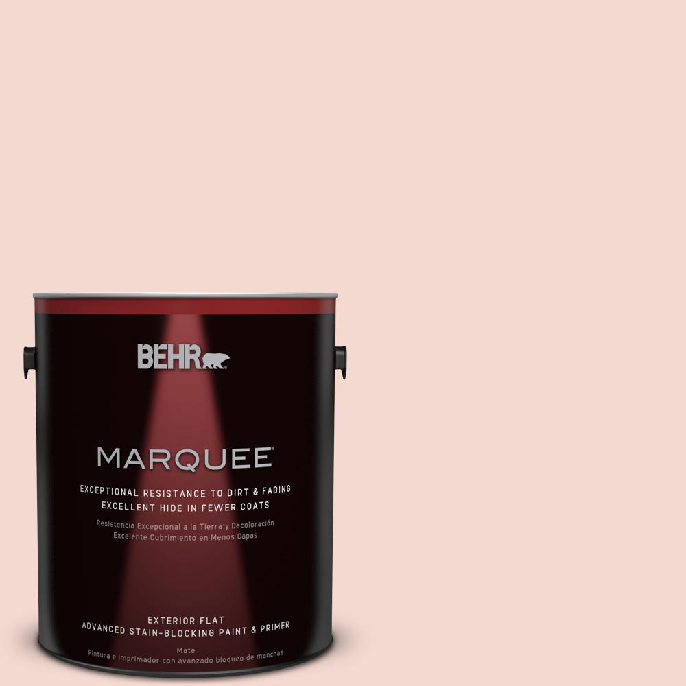 1-gal. #200E-1 Possibly Pink Flat Exterior Paint
