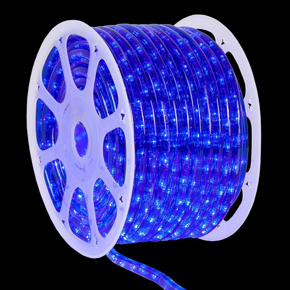 150 ft. 1800-Light LED Blue Rope Light Kit