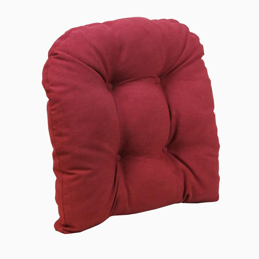 Gripper Non Slip 17 In X 17 In Twillo Red Tufted Universal Chair Cushions 847140xl 07 The Home Depot