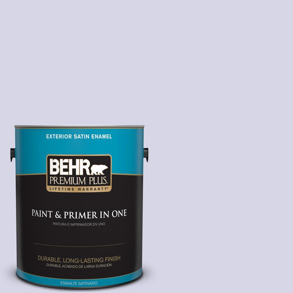 1 gal. #PPU16-08 Hint of Violet Satin Enamel Exterior Paint