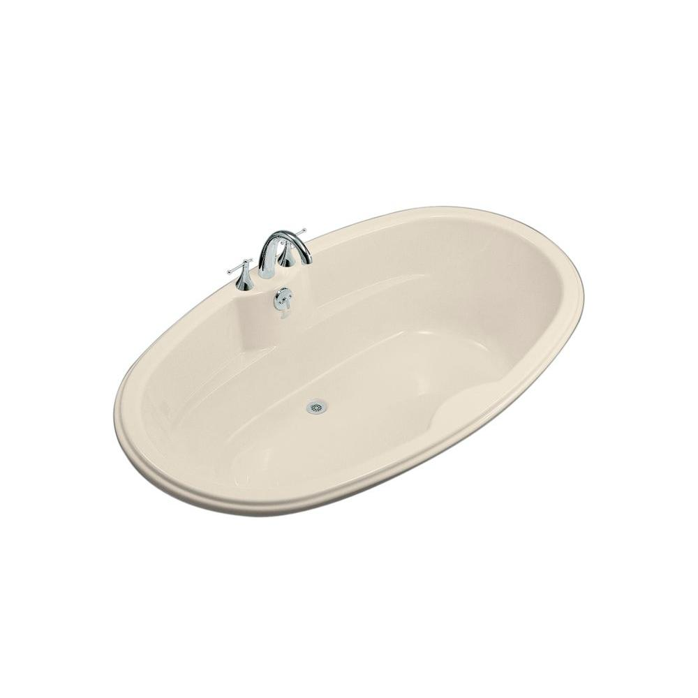 KOHLER ProFlex 6 ft. Center Drain Drop-In Oval Bathtub in Almond