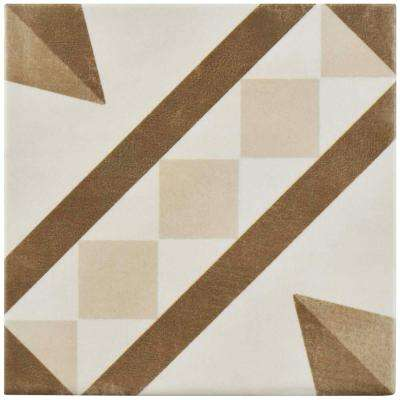 Atelier Tabaco Vendome 5-7/8 in. x 5-7/8 in. Ceramic Floor and Wall Tile (5.73 sq. ft. / case)