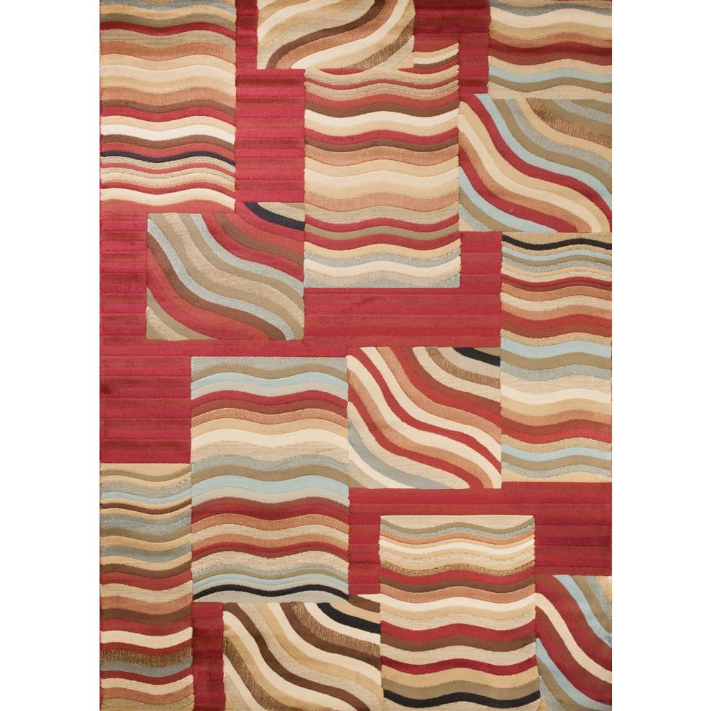 Concord Global Trading Soho Waves Multi 7 ft. 10 in. x 10 ft. 10 in. Area Rug