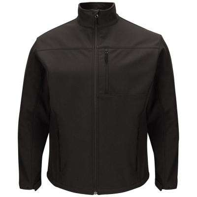 Men's 4X-Large Black Deluxe Soft Shell Jacket