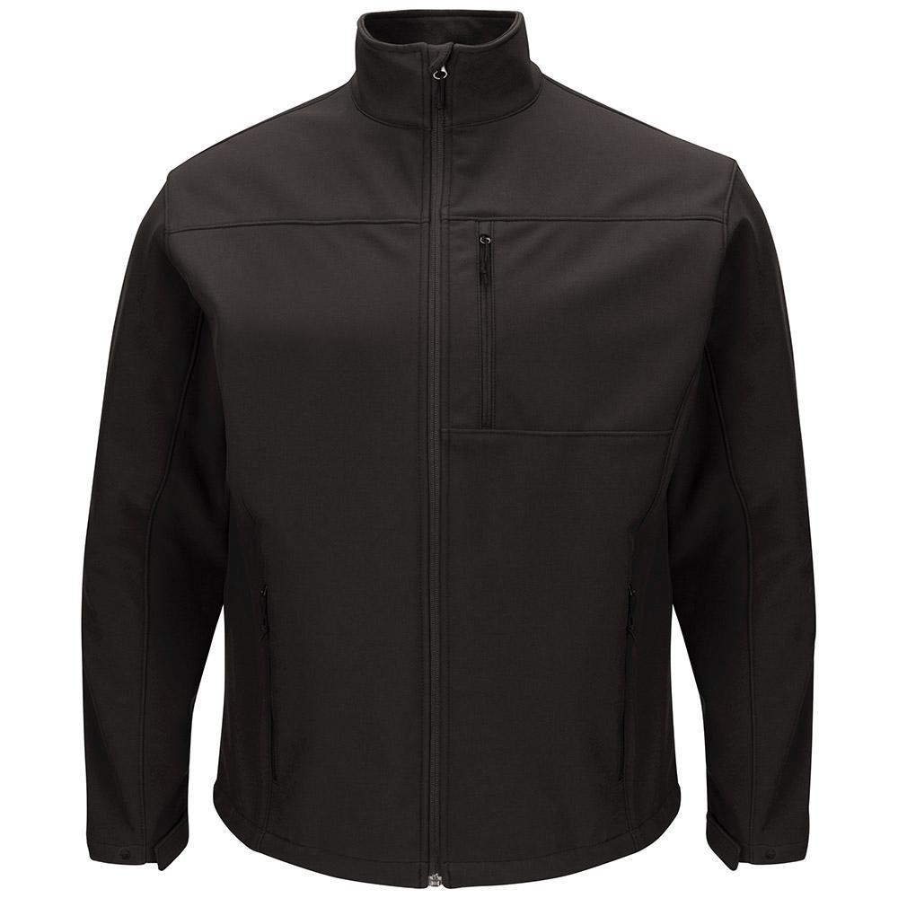 68426a1f89066 Red Kap Men s Large Black Deluxe Soft Shell Jacket-JP68BK RG L - The ...