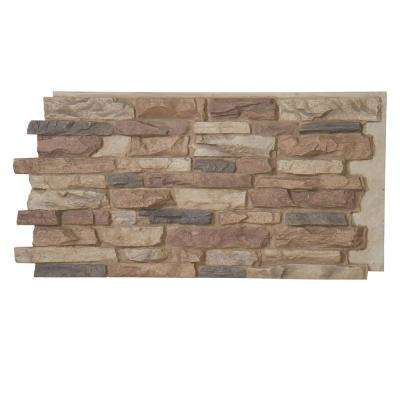 Denalia Faux Stone Panel 1-1/4 in. x 48 in. x 24 in. Rustic Lodge Polyurethane Interlocking Panel