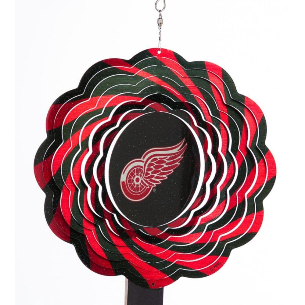 Evergreen NHL 10 in. Detroit Redwings Geo Spinner